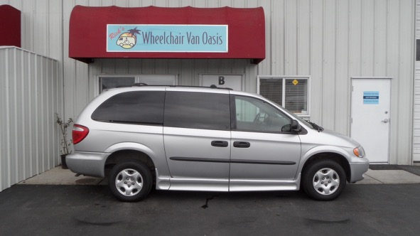 56150b191d 2003 Dodge Caravan with complete IMS Braun (industry leader) lowered floor  mobility conversion. Silver with 65